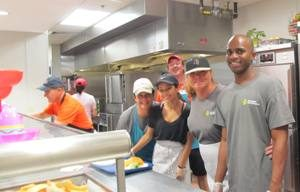 Boca Helping Hands - In the kitchen serving